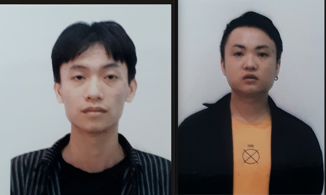 Two Chinese border jumpers are held at the police station in Kon Tum Province, Vietnam in this supplied photo.