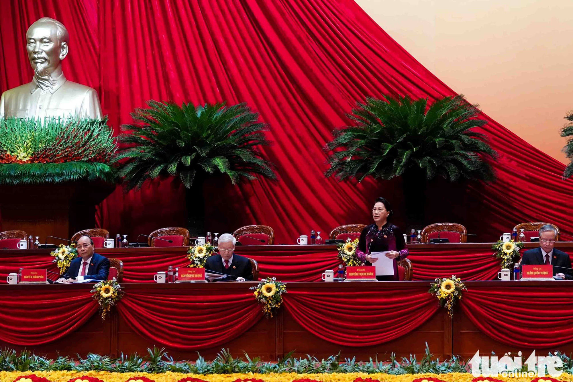 National Assembly Chairwoman Nguyen Thi Kim Ngan speaks at the preparatory session of Vietnam's 13th National Party Congress in Hanoi, January 25, 2021. Photo: Vien Su / Tuoi Tre