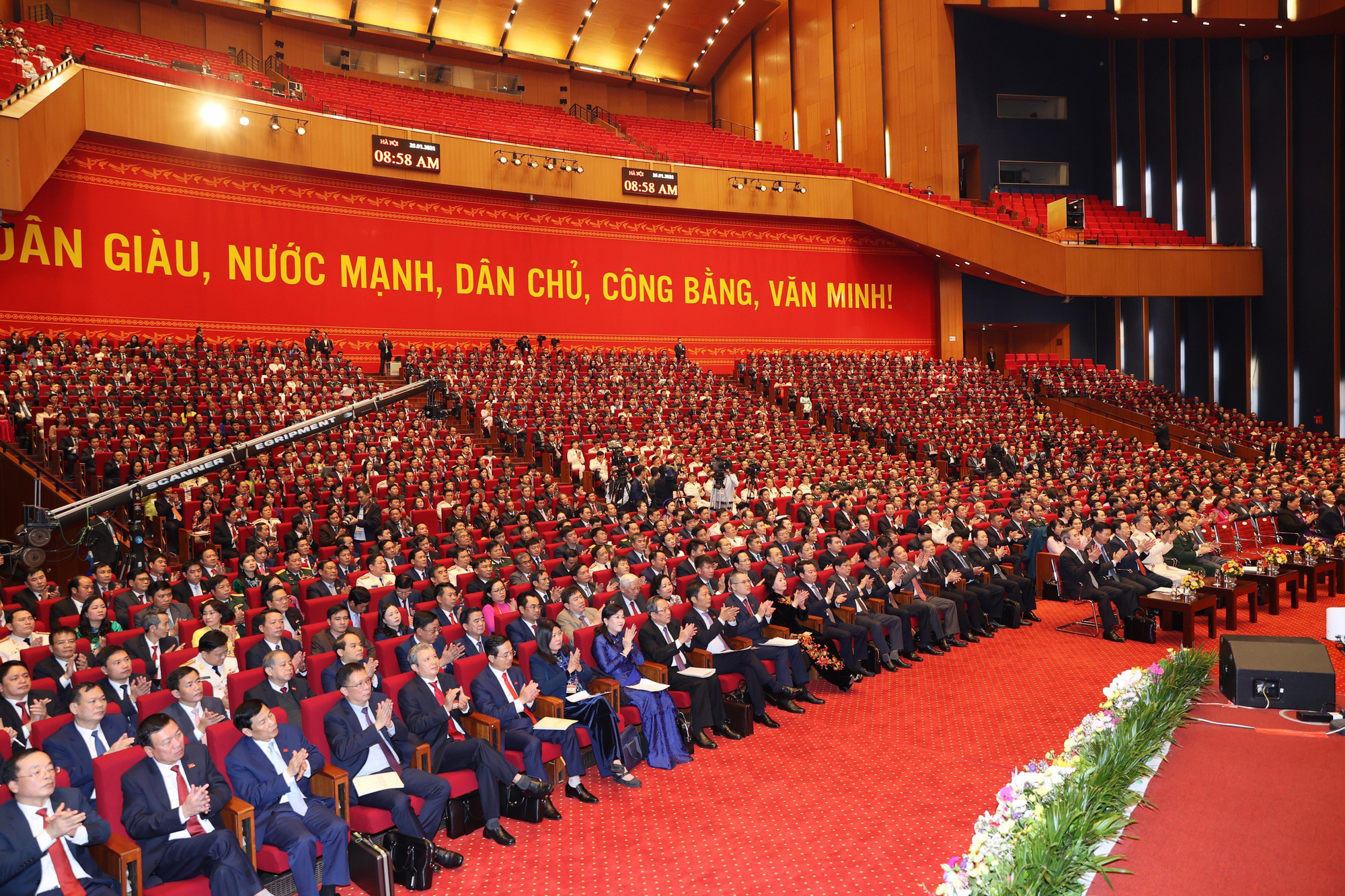 Delegates attend the preparatory session of Vietnam's 13th National Party Congress in Hanoi, January 25, 2021. Photo: Vietnam News Agency