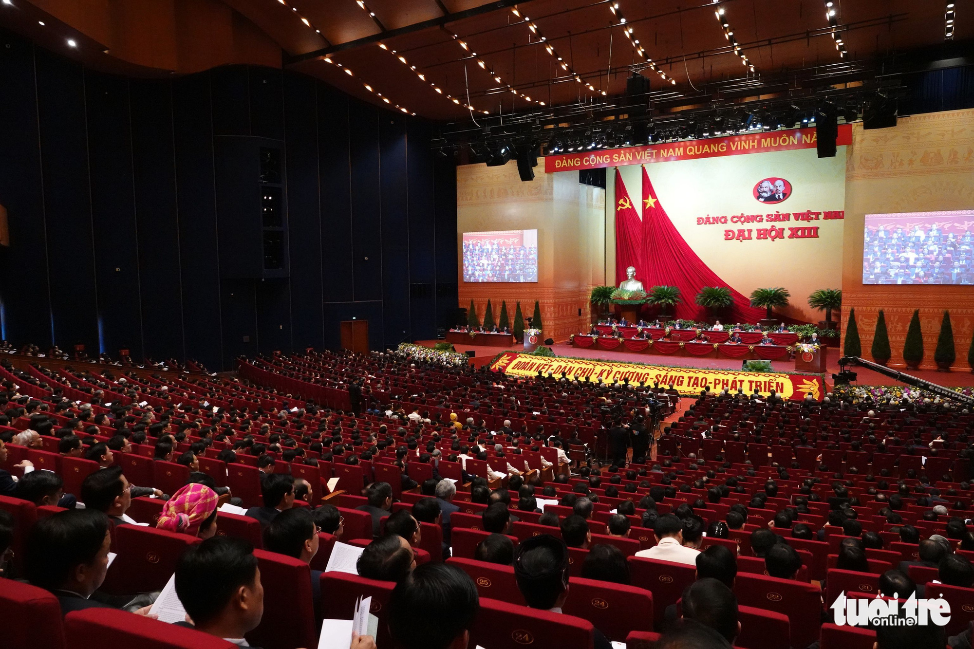 Vietnam's 13th National Party Congress opens in Hanoi, January 26, 2021. Photo: Vien Su / Tuoi Tre