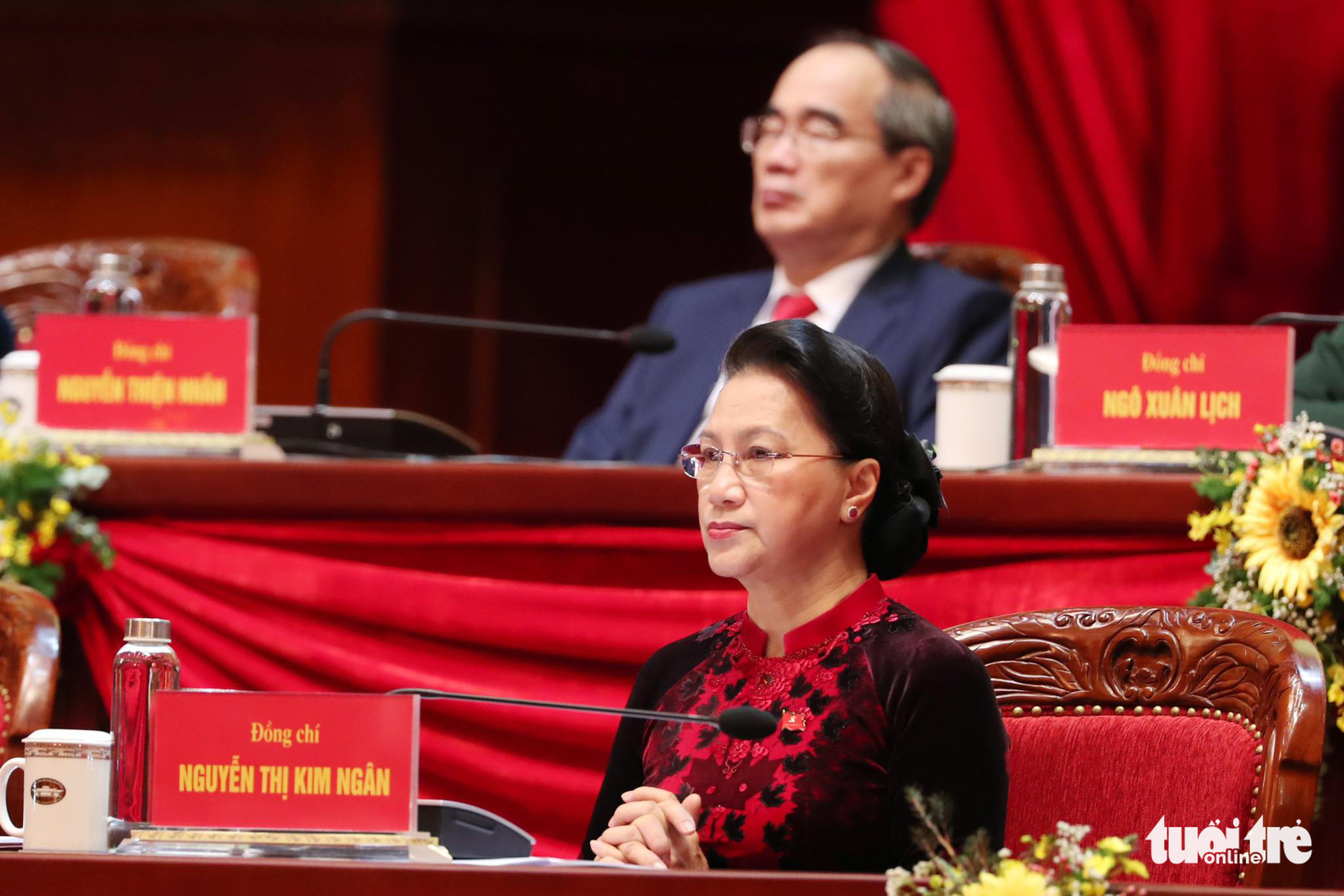 Chairwoman of the National Assembly Nguyen Thi Kim Ngan at the 13th National Party Congress in Hanoi, January 26, 2021. Photo: Minh Linh / Tuoi Tre
