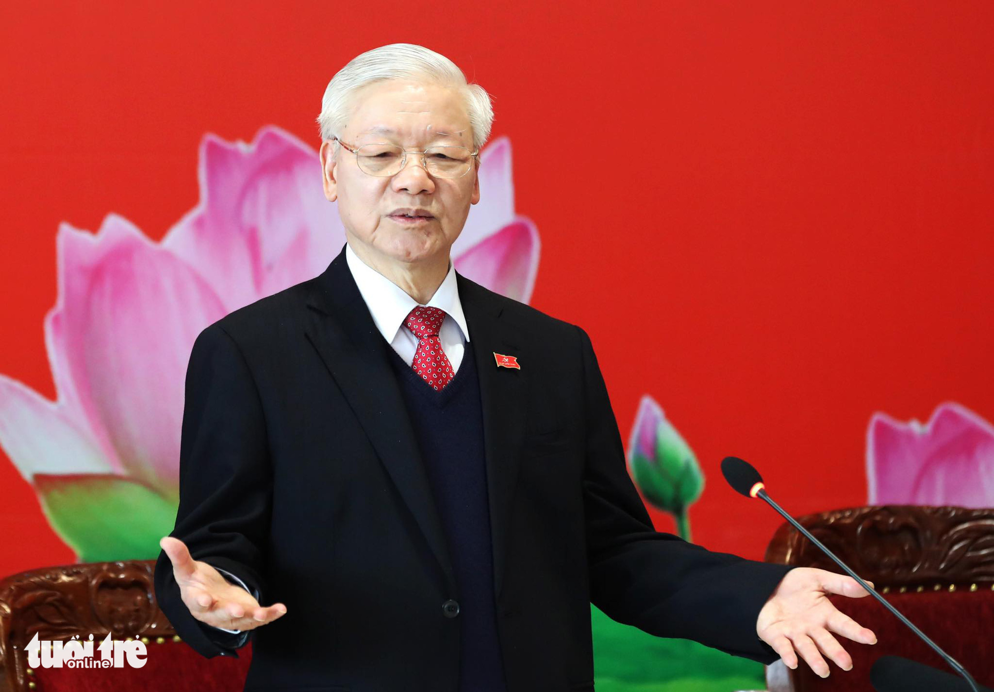 Vietnamese Party chief on re-election following conclusion of 13th National Congress