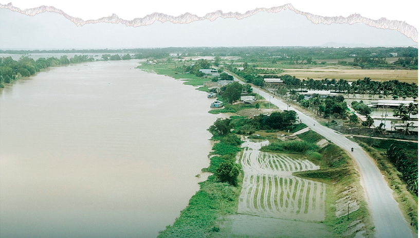A canal leading freshwater to An Giang Province's farms. Photo: Chi Quoc/Tuoi Tre