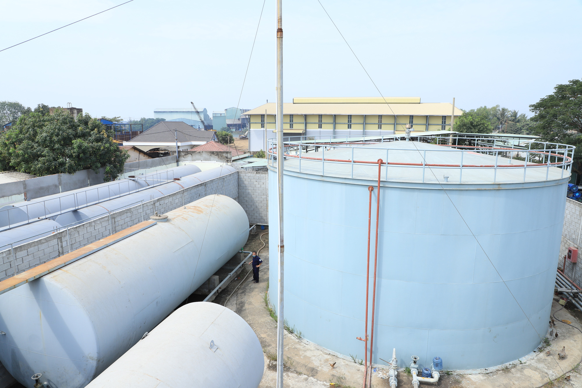 A warehouse belonging to a fake gasoline ring in Dong Nai Province, Vietnam in this supplied photo