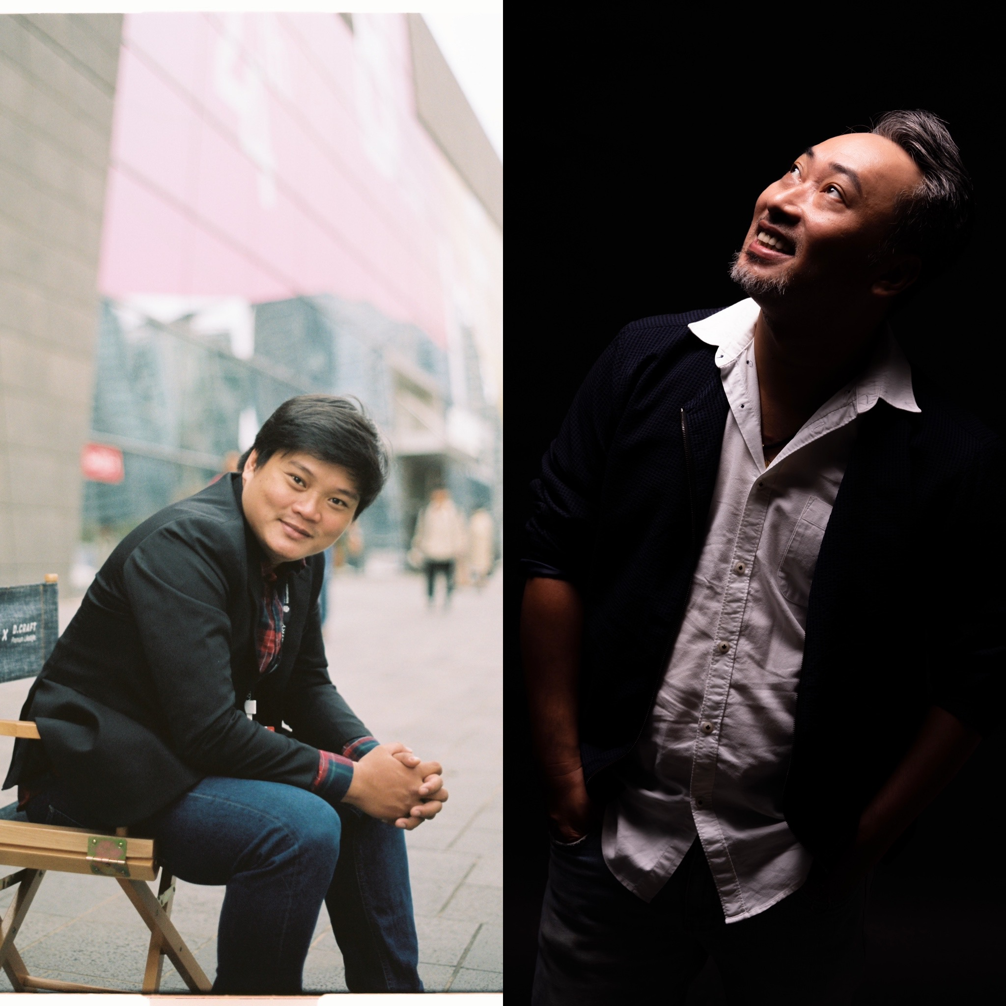 Tran Thanh Huy (left), director of 'Rom,' and Nguyen Quang Dung, director and producer of 'Tiec trang mau.'