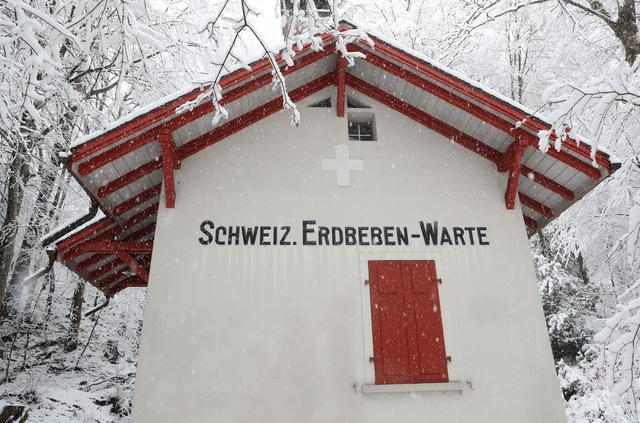 The seismic observatory Degenried (Schweizerische Erdbeben Warte) of the Swiss Seismological Service at ETH Zurich is seen during snowfall in Switzerland January 14, 2021. Photo: Reuters