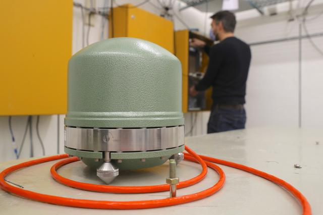 A Streckeisen broadband seismometer is seen at the seismic observatory Degenried of the Swiss Seismological Service (SED) at ETH Zurich in Switzerland January 14, 2021. Photo: Reuters