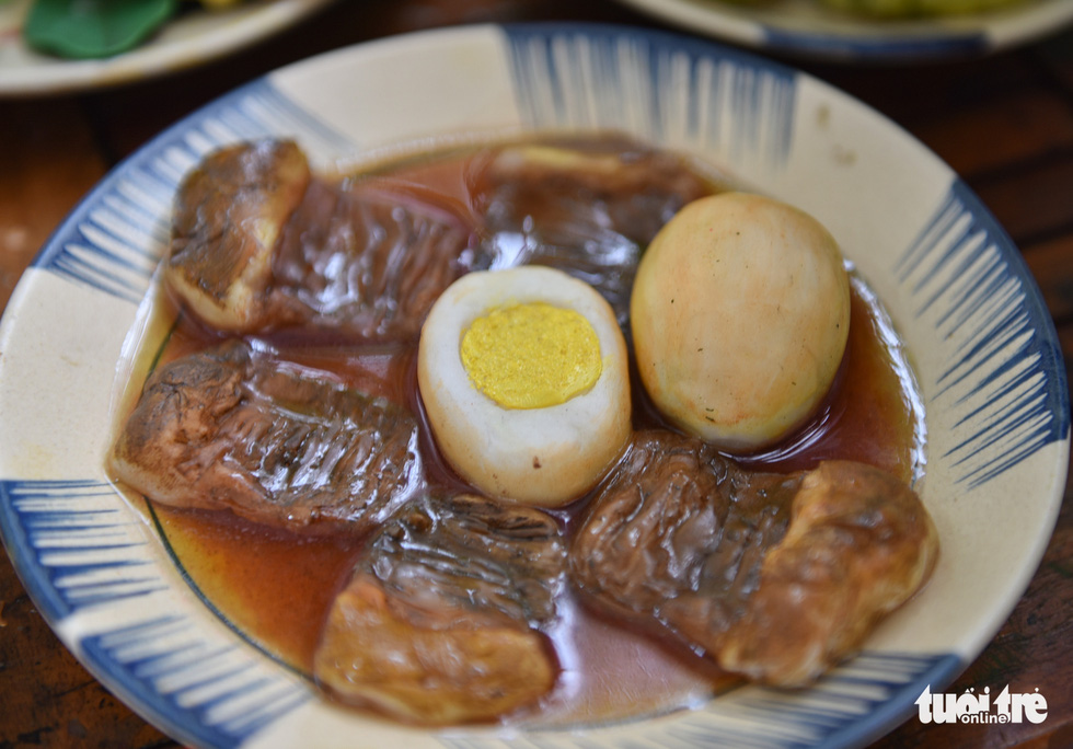 Braised pork and eggs, an extremely popular dish in southern Vietnam because it can stay fresh and edible for a long time. Photo: Ngoc Phuong / Tuoi Tre