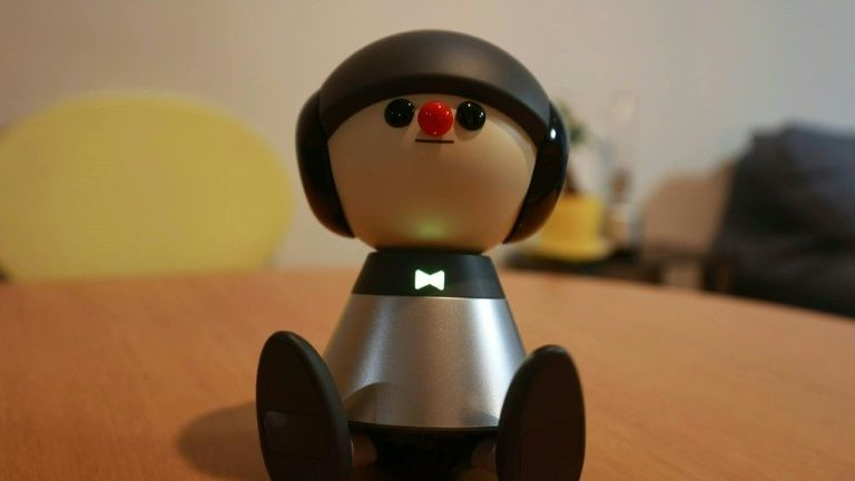 In this picture taken on February 4, 2021 shows communication robot Charlie being pictured in Nami Hamaura's apartment in Tokyo. Photo: AFP