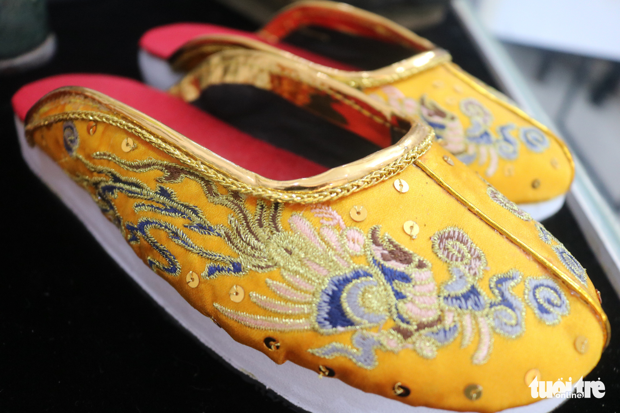 A pair of shoes for the King under the Nguyen Dynasty made by Tran Quang Minh Tan
