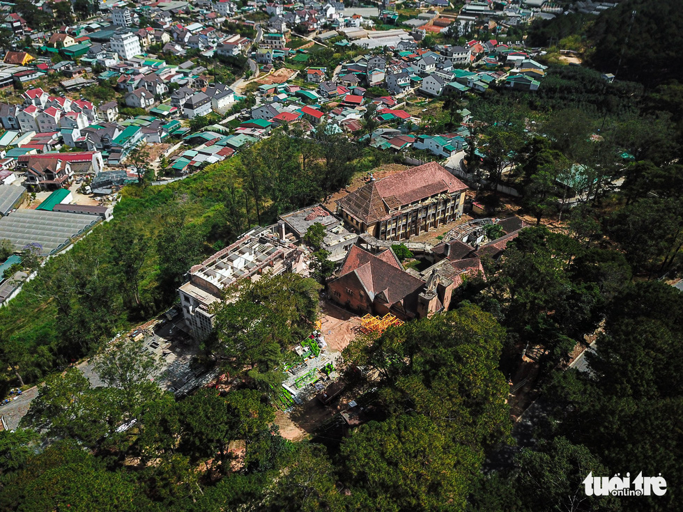 The mission is located in an area surrounded by pine trees near Da Lat's City Center. Photo: Duc Tho / Tuoi Tre
